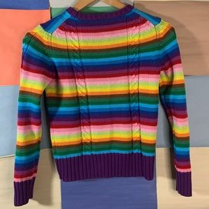 Gap Rainbow Color Cable Knit Sweater size L( 10)